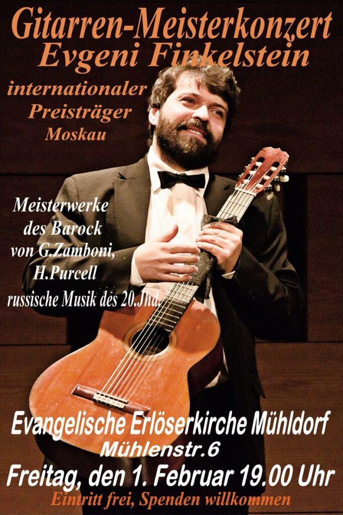 Plakat Konzert Evgeni Finkelstein